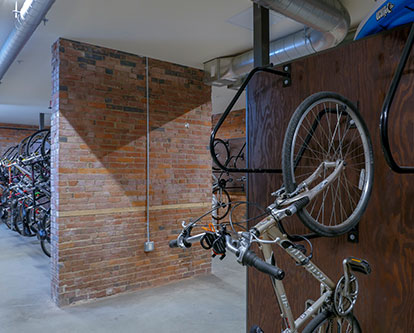 The bike room at Liberty House